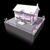 Diagramme au sol de pompe à chaleur de source illustration stock
