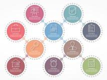 Diagramme avec des cercles illustration libre de droits