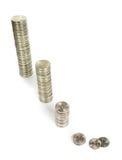 Diagramme à barres d'argent Photo stock