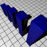 Diagramme bleu Images libres de droits