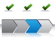 Diagramme bleu de flèche illustration libre de droits