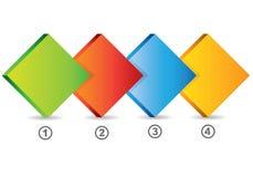 Diagramme carré de briques Image stock