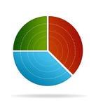 Diagramme circulaire d'affaires Images libres de droits