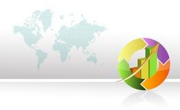 Diagramme circulaire d'affaires colorées Image libre de droits