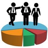 Diagramme circulaire de bénéfice d'équipe de ventes d'affaires Image stock