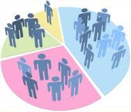 Diagramme circulaire de données de population de statistiques de gens Photographie stock libre de droits