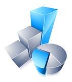 Diagramme circulaire et graphique  Images stock
