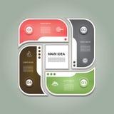 Diagramme cyclique avec quatre étapes et icônes illustration libre de droits