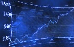 Diagramme d'argent de marché boursier Photo stock
