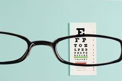 Diagramme d'examen d'oeil Image libre de droits