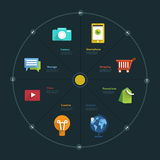 Diagramme d'Infographic Photographie stock
