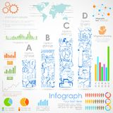 Diagramme d'Infographics d'affaires Photographie stock