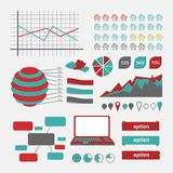 Diagramme d'Infographics de vecteur Photo stock