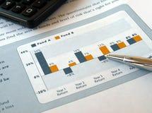 Diagramme d'investissement Photographie stock libre de droits