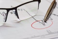 Diagramme d'opérations boursières Image libre de droits
