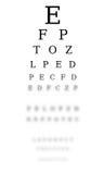 Diagramme d'optométriste Photographie stock