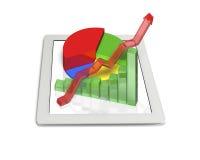 diagramme 3D sur le comprimé Photographie stock libre de droits