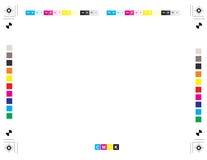 Diagramme d'étalonnage d'impression de vecteur Photo libre de droits
