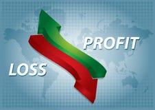 Diagramme de bénéfice Photographie stock libre de droits