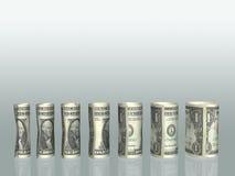 Diagramme de billets d'un dollar Photos stock
