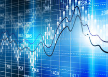 Diagramme de bourse des valeurs, diagramme d'analyse commerciale Photographie stock