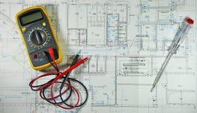 Diagramme de câblage Photos stock