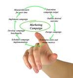 Diagramme de campagne de marketing Image libre de droits
