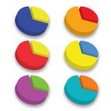 diagramme de cercle de couleur 3D Photos libres de droits