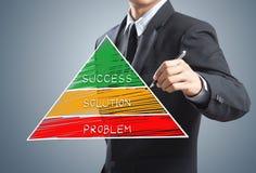 Diagramme de concept de succès d'écriture d'homme d'affaires Photographie stock