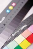 Diagramme de contrôle de couleur Photographie stock libre de droits