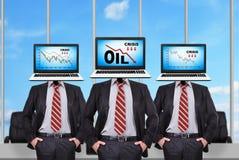Diagramme de crise pétrolière Image libre de droits