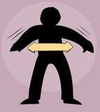Diagramme de déplacer Person Over Purple Photographie stock libre de droits
