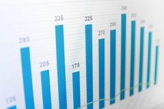 Diagramme de données de graphique de gestion sur l'écran d'ordinateur. Images stock