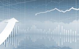Diagramme de données de marché boursier vers le haut de flèche Photos stock