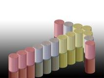 Diagramme de flèche et de pièces de monnaie Image stock