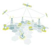 Diagramme de fonctionnement de télécom illustration stock