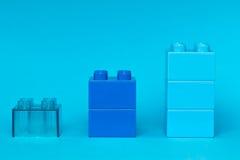 Diagramme de Lego sur le fond bleu Image stock