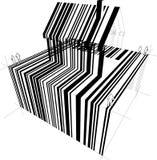 Diagramme de maison de code barres Images stock