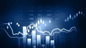 Diagramme de marché boursier Photographie stock