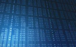 Diagramme de marché boursier Photos stock