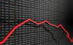 Diagramme de marché boursier Photo stock