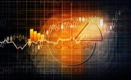 Diagramme de marché boursier Image stock