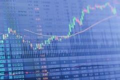 Diagramme de marché boursier, données de marché boursier Photo stock