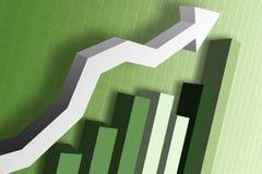 Diagramme de marché monétaire Photo stock