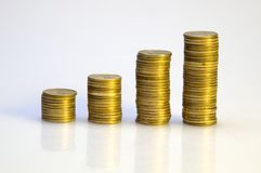 Diagramme de pièces de monnaie images stock