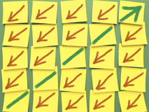 Diagramme de post-it Image libre de droits