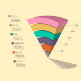 Diagramme de pyramide Photographie stock
