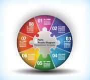 diagramme de roue des affaires 8 dégrossies illustration stock