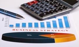 Diagramme de stratégie commerciale image stock