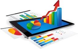 Diagramme de Tablette Photos stock